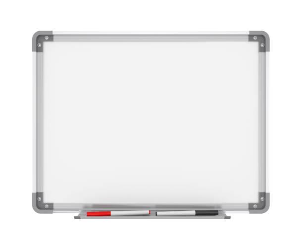 Quadro branco em branco - foto de acervo