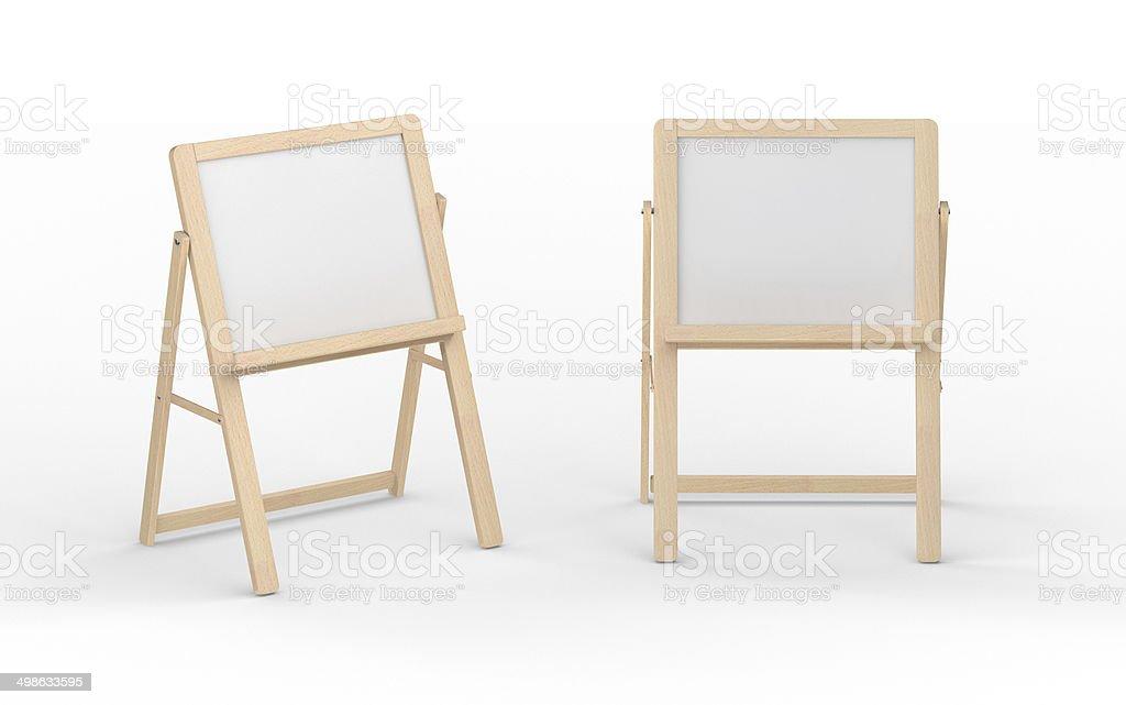Leere Weiße Tafel Stand Mit Holzrahmen Clippingpfad Enthalten ...