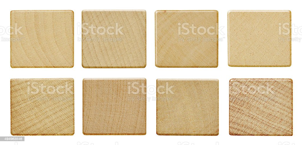 Blank wood pieces stock photo