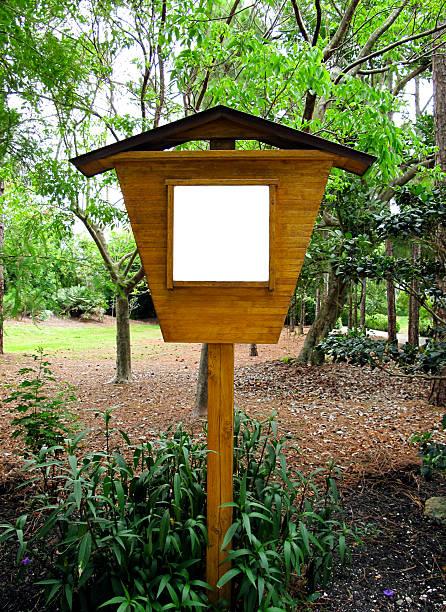 Blank wooden sign stok fotoğrafı