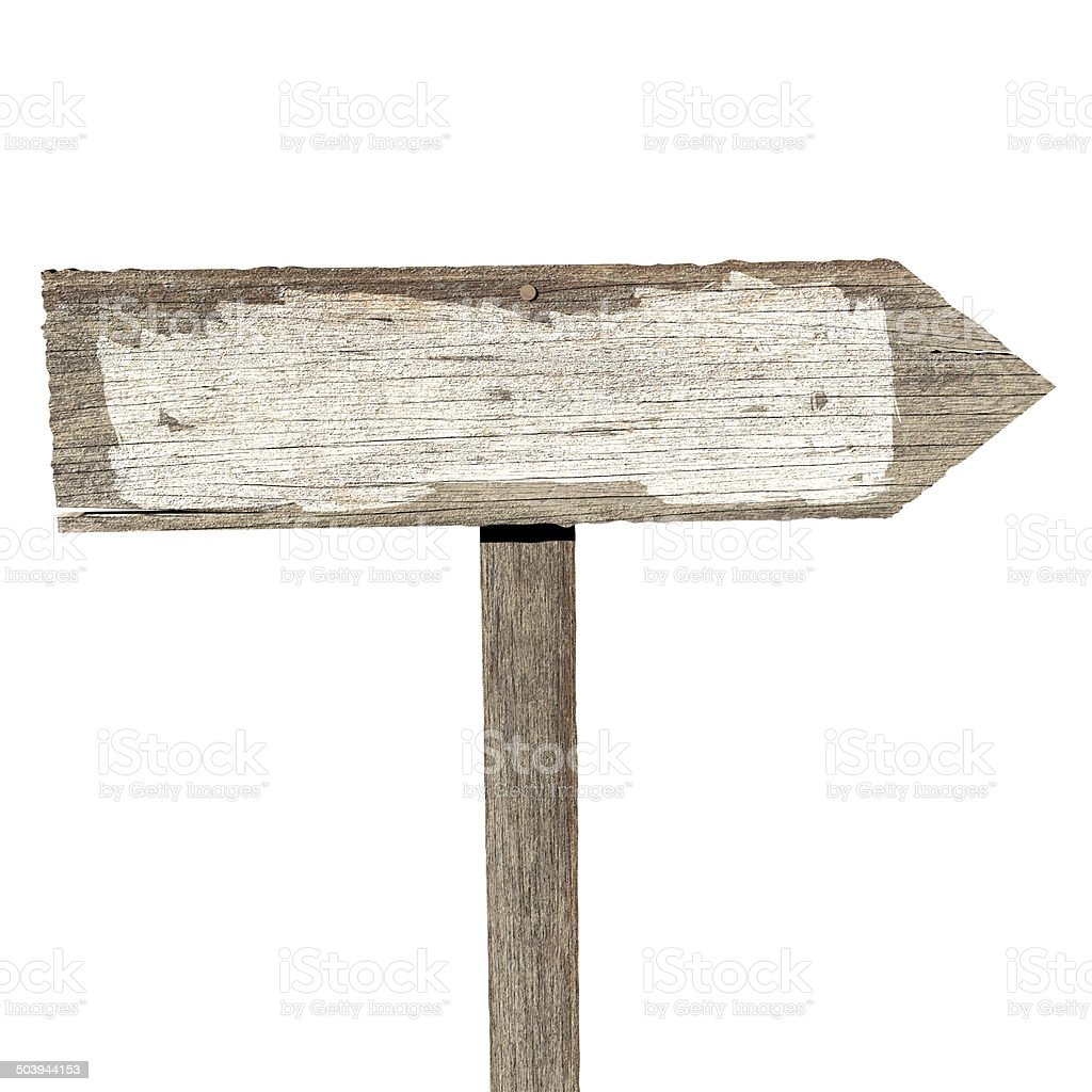 Blank wooden sign stock photo
