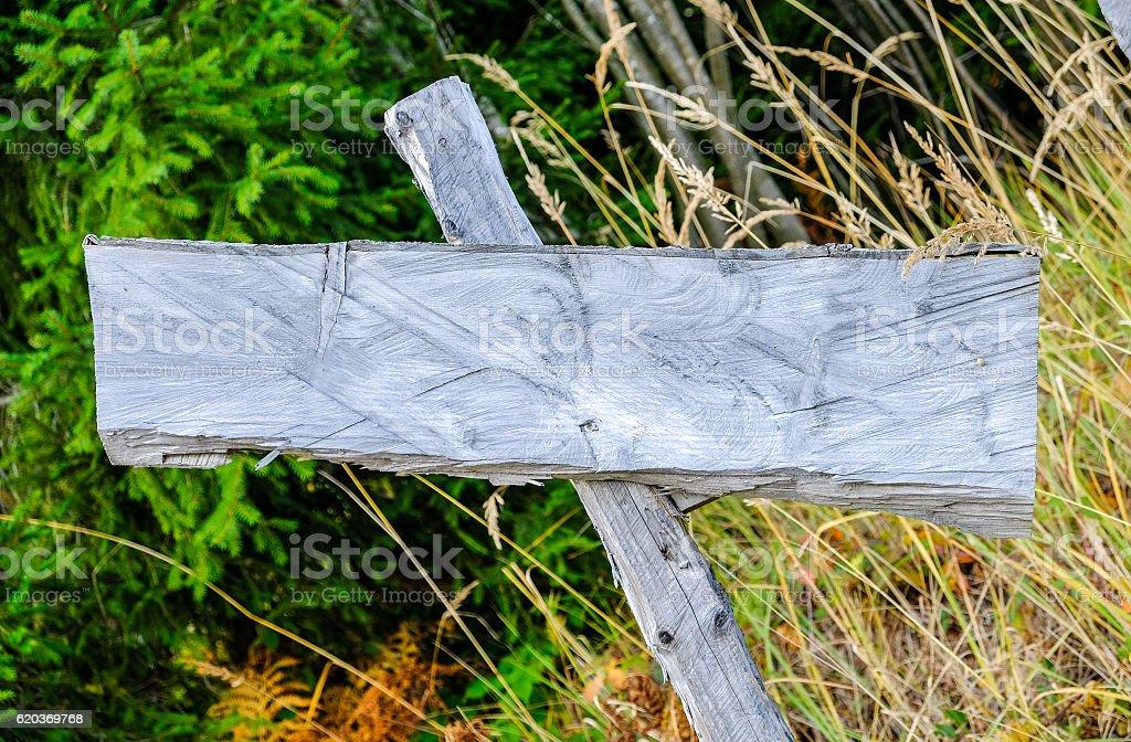 Sinal de madeira em branco foto de stock royalty-free