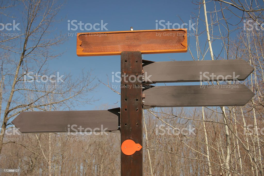Blank wooden signs royalty-free stock photo