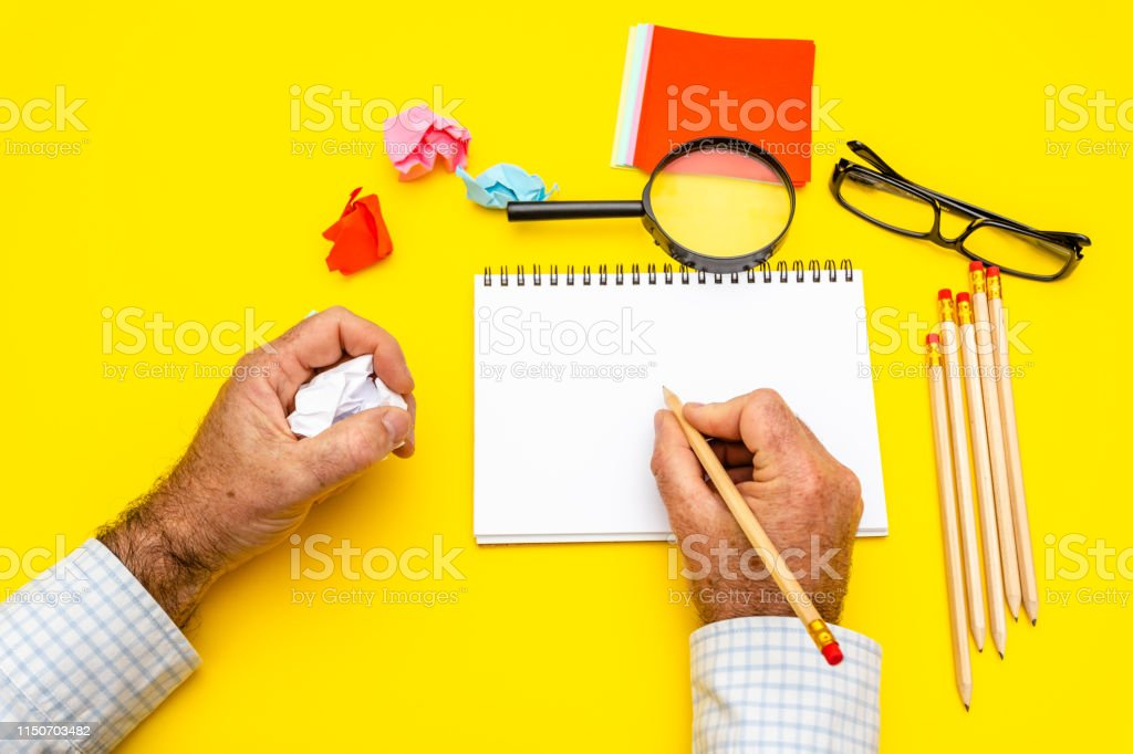 Blank writing pad for ideas and inspiration on colored background....