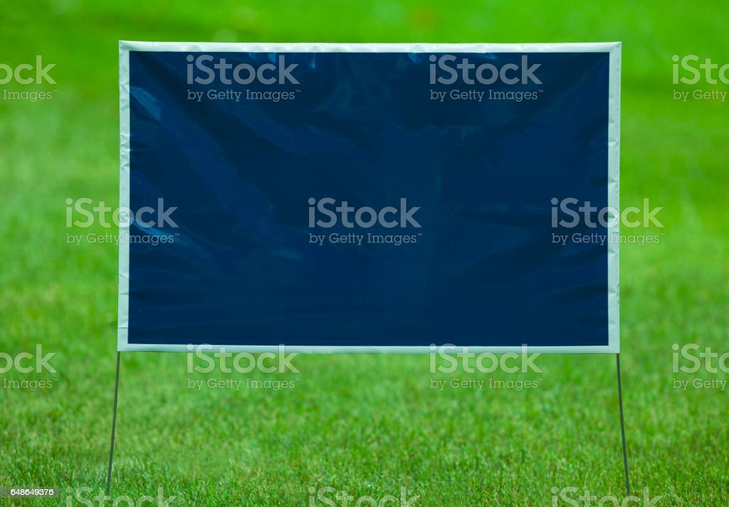 Blank Yard Sign stock photo