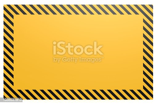 istock Blank yellow and black banner 1055031910