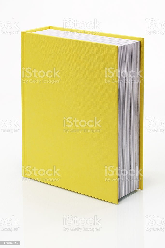 Blank Yellow Book stock photo