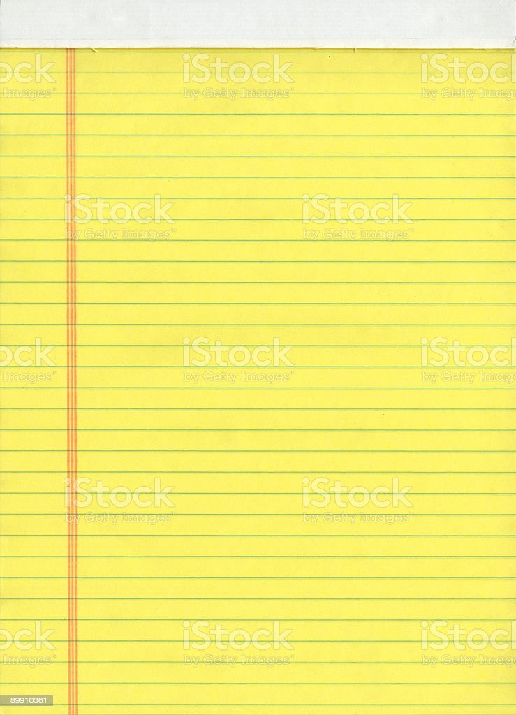 Blank Yellow Notepad royalty-free stock photo