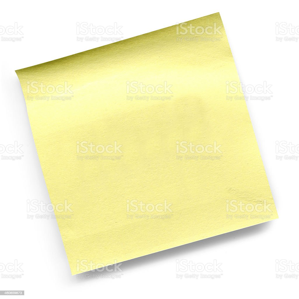Blank yellow paper notes royalty-free stock photo