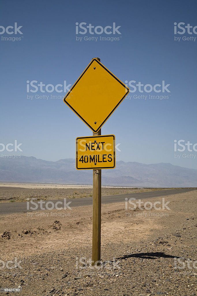 blank yellow road sign royalty-free stock photo