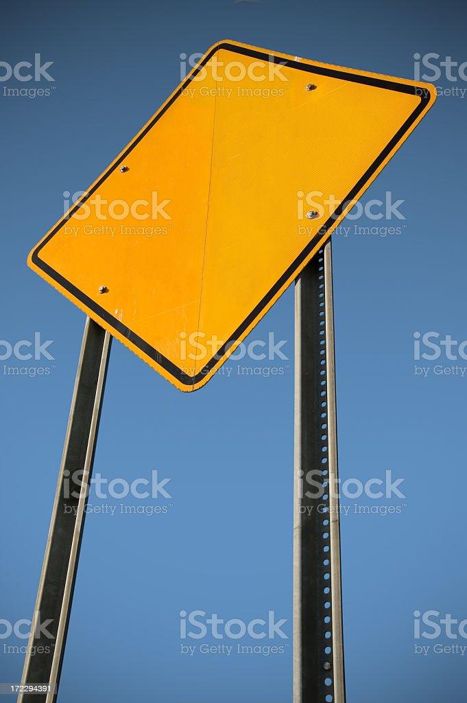 Blank yellow sign stock photo