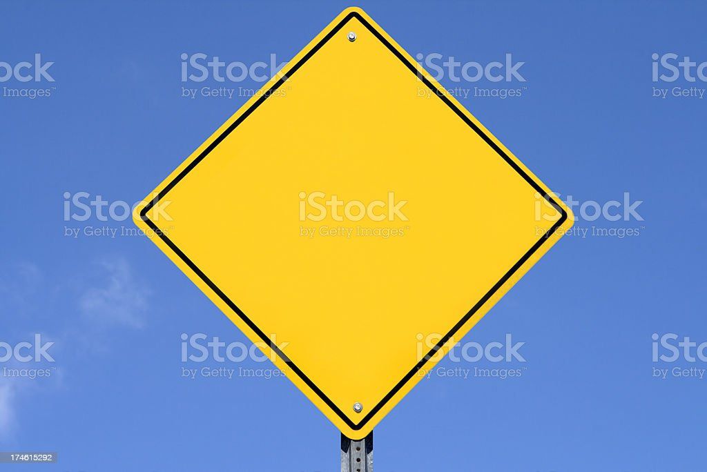 Blank Yellow Sign royalty-free stock photo