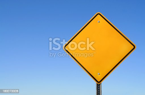 A blank yellow sign ready for your text!