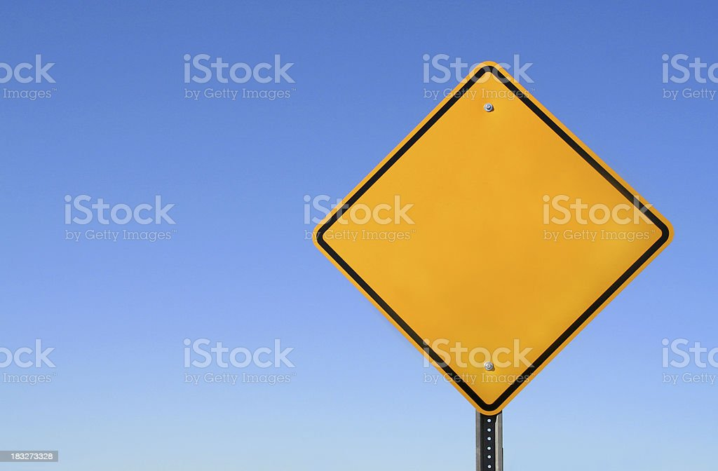 Blank Yellow Sign stock photo