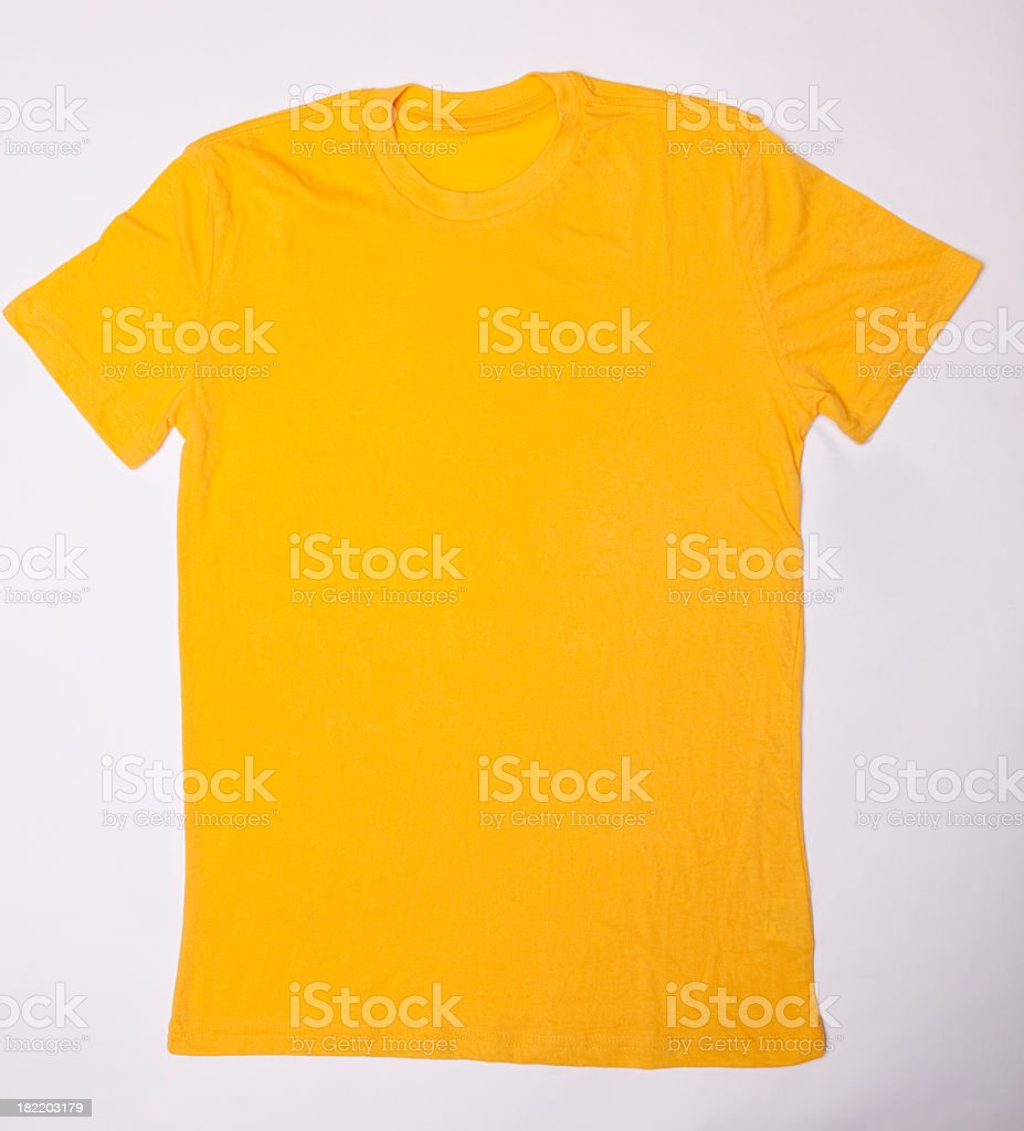 Blank Yellow T-Shirt stock photo