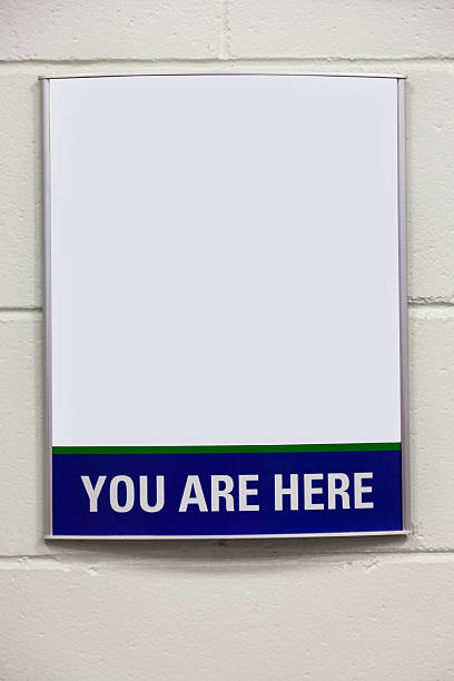 Blank You Are Here Information Map stock photo
