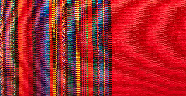Blanket Detail with Latin American Color Pattern Blanket Detail with Latin American Color Pattern latin america stock pictures, royalty-free photos & images