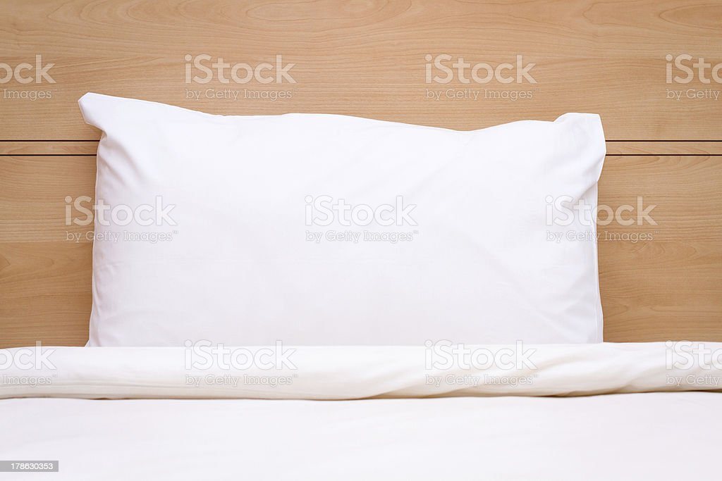 Blanket, Pillow & Bed stock photo