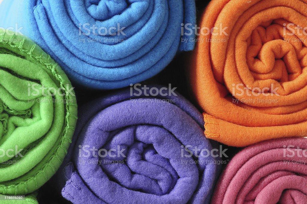 Blanket roll. stock photo