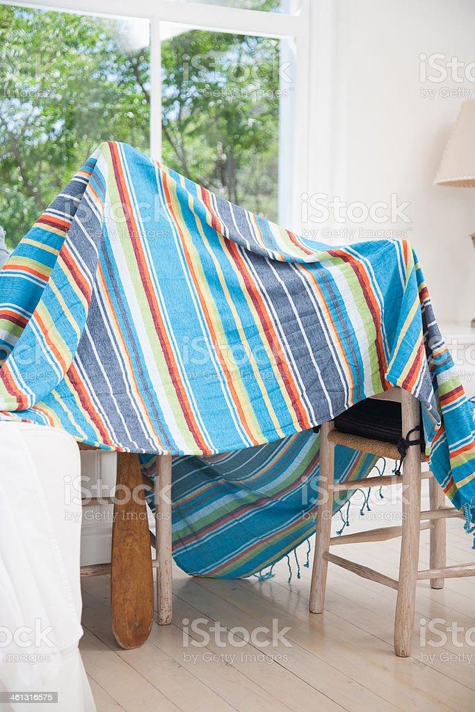 Blanket tent stock photo