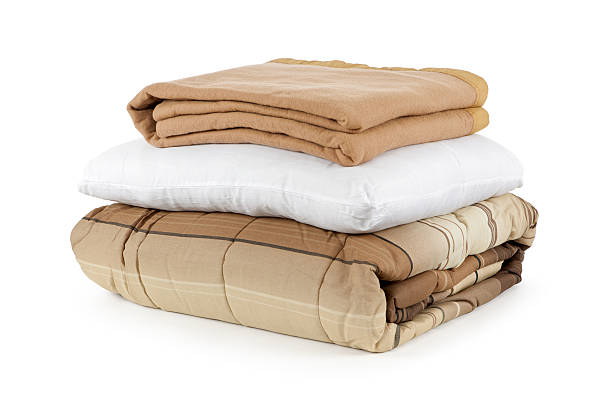 Blankets and Pillow stock photo