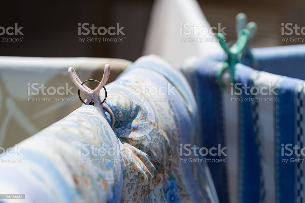 Blankets Hung Out to Dry stock photo