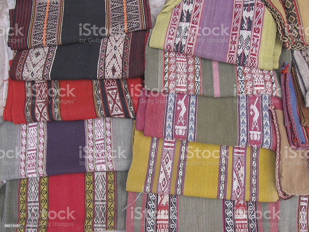 Blankets in Marketplace #2 royalty-free stock photo