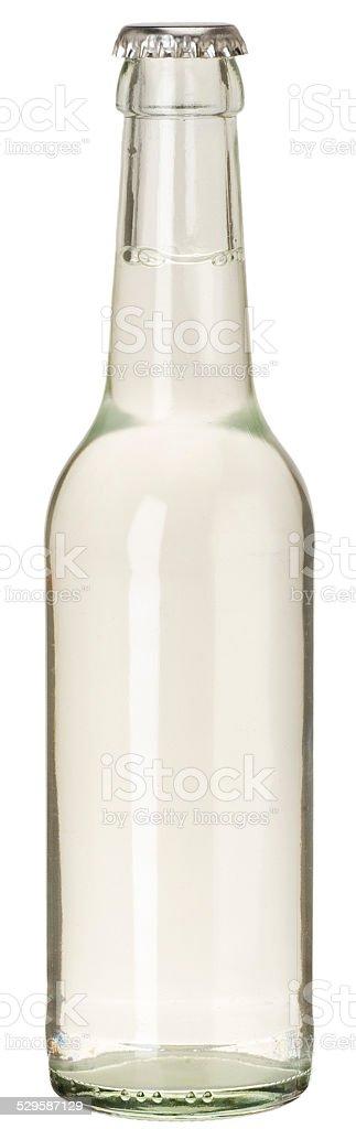 blanko Glasflasche für Mineralwasser stock photo