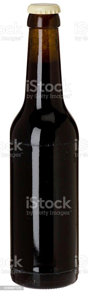blanko Glasflasche mit Bier stock photo