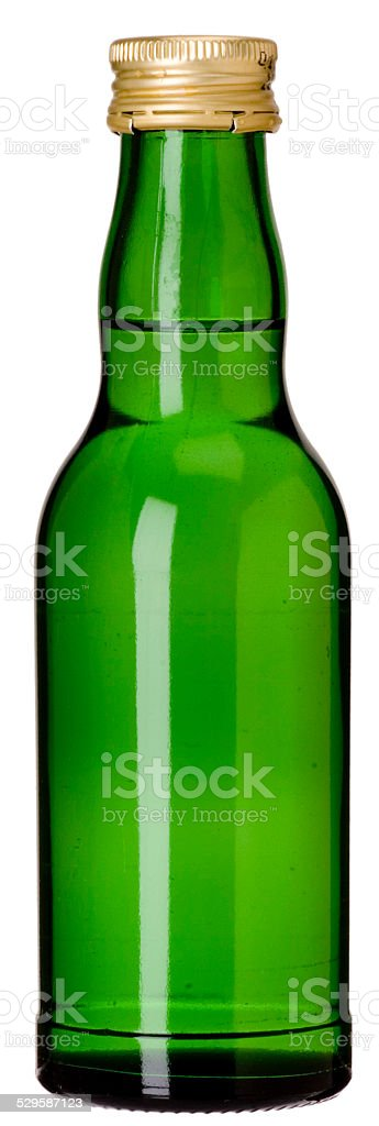 blanko grüne Glasflasche (Recycling) stock photo
