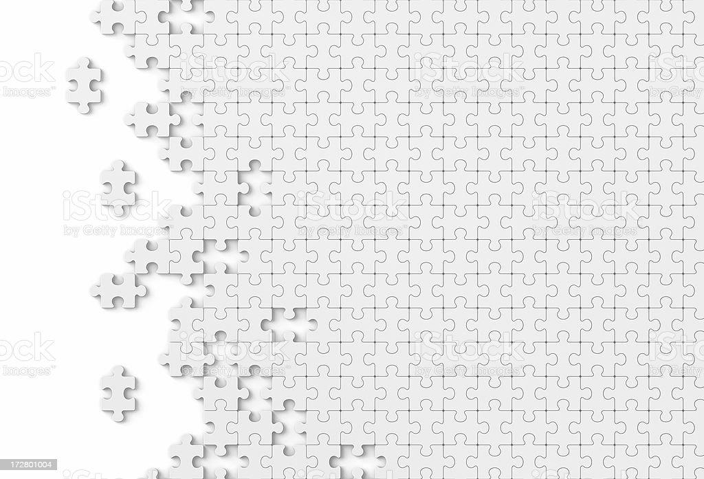 Blanko Puzzle stock photo