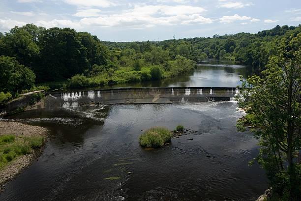 Blantyre Weir, River Clyde stock photo