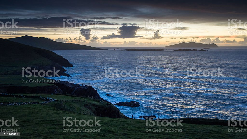 Blasket Islands sunset stock photo