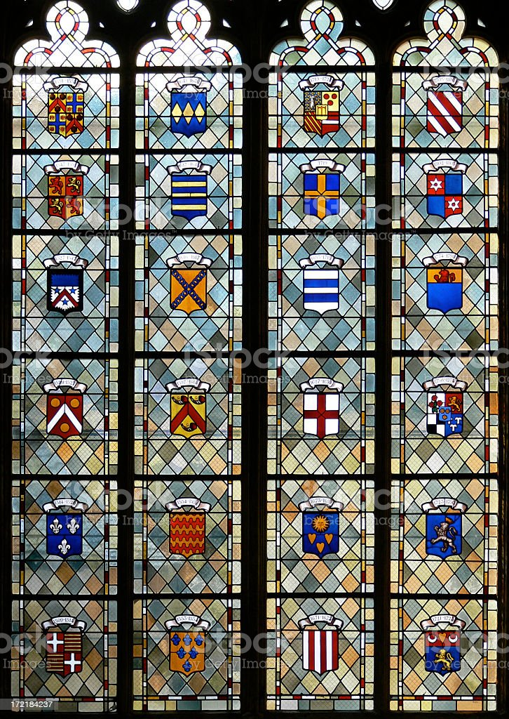 Blasons vitraux royalty-free stock photo
