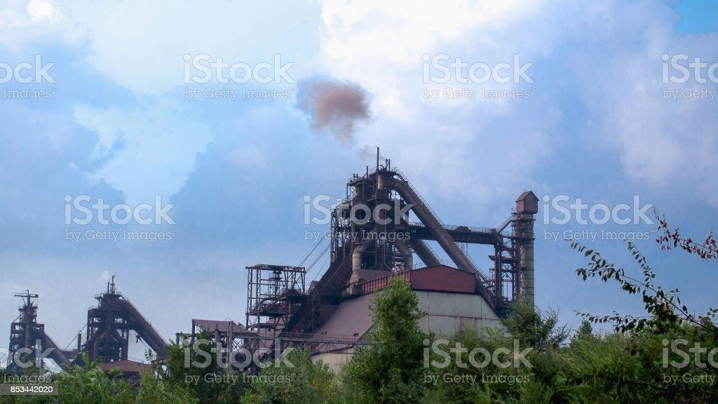 Blast furnace active stock photo