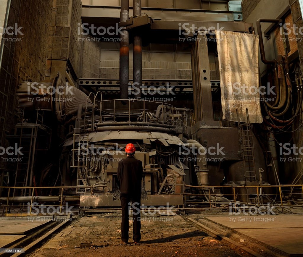 Blast furnace iron stock photo