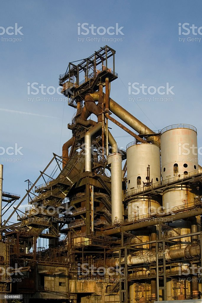 blast furnace royalty-free stock photo