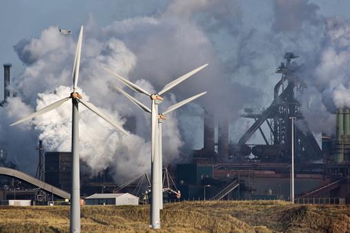 Blast furnaces with windmills