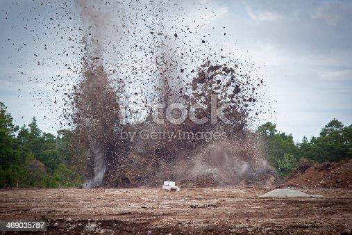 istock Blasting limestone in a quarry.GN 469035787