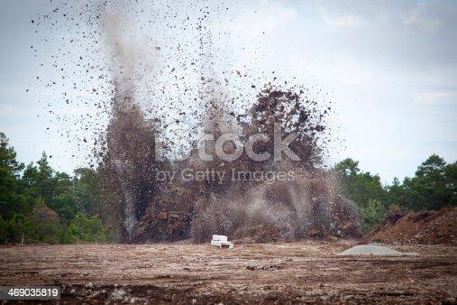 istock Blasting limestone in a quarry.GN 469035819