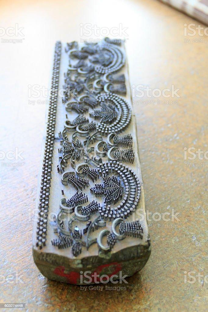 Blaudruck-Werkzeug stock photo