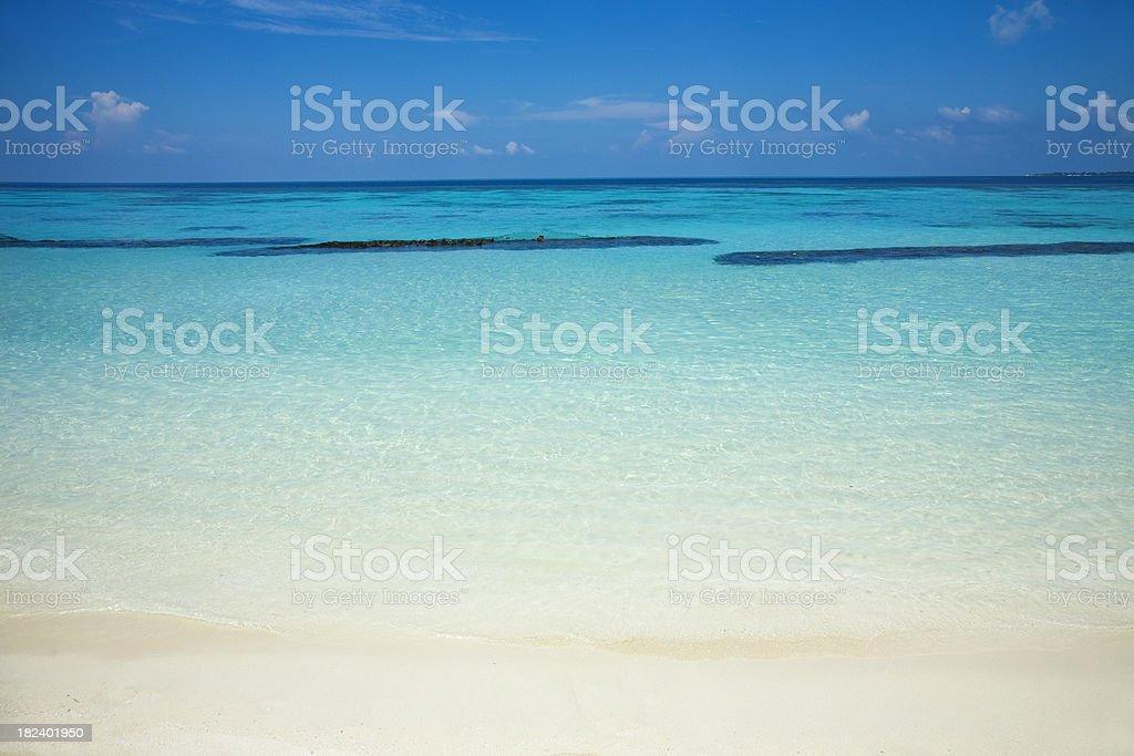 Blaue Lagune stock photo