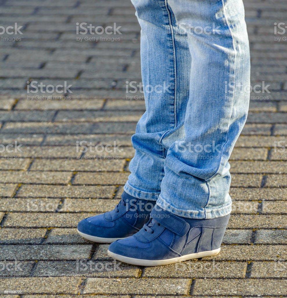 blaue Wedges stock photo