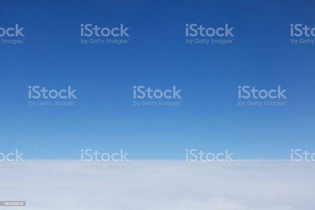Blauer Himmel, Wolkendecke, Wolken, Luftaufnahme royalty-free stock photo