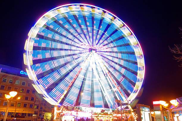 Blaues Riesenrad stock photo