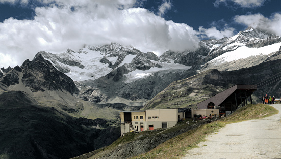 Blauherd ZBSG Cable-car station in Valais, Swiss Alps