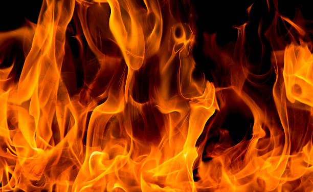 blaze fire flame texture background - vlam stockfoto's en -beelden