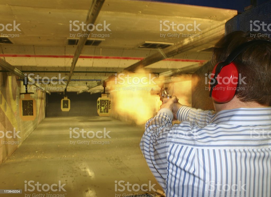 Blazin With A 44 Magnum stock photo