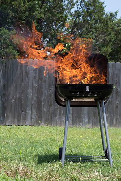 Blazing BBQ stock photo