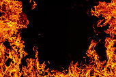 Blazing fire frame